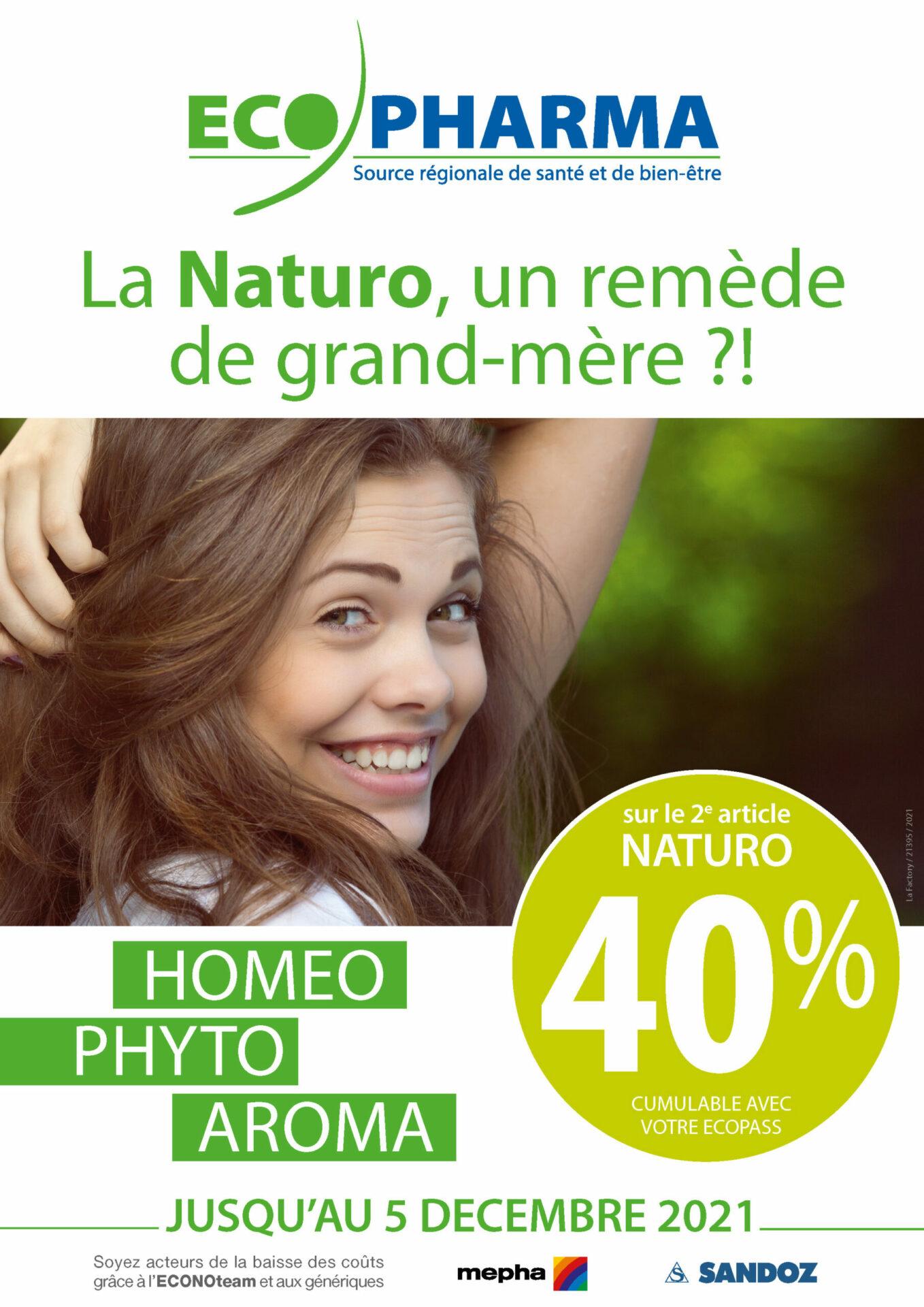 Profitez de notre offre Naturo ! 40 % sur le 2ème article Naturo